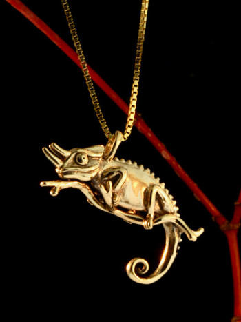 Jackson Chameleon - 14K Gold