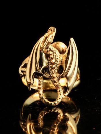 Glider Dragon Ring - 14K gold