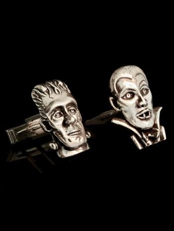 Frankenstein and Dracula Cufflinks
