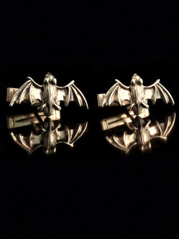 Flying Bat Cufflinks - Silver