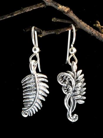Fiddlehead Fern Earrings