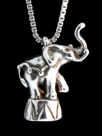 Circus Elephant Charm - Silver
