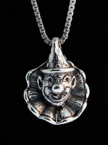 Circus Clown Charm - Silver