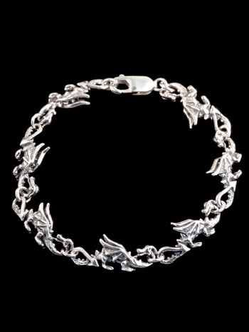Dragon Bracelet in Silver