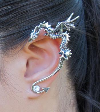 Classic Dragon Ear Wrap Silver