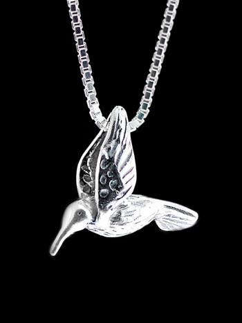 Hummingbird Charm - Silver