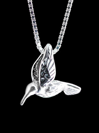 Hummingbird Charm in Silver