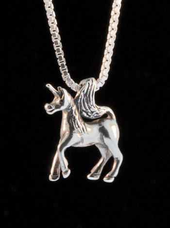 Unicorn Charm in Silver