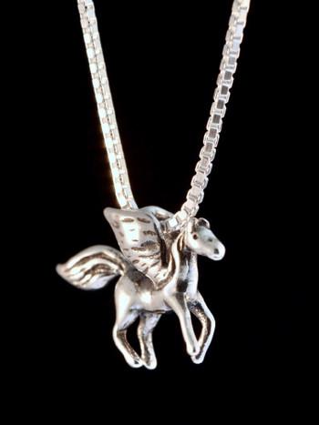 Pegasus Charm in Silver