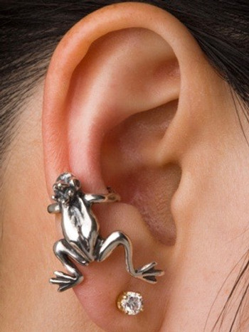 Enchanted Frog Ear Climber Cuff