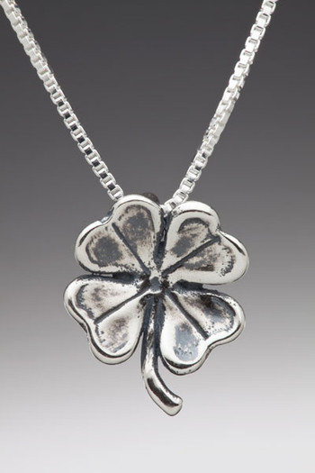 Four Leaf Clover Charm in Silver