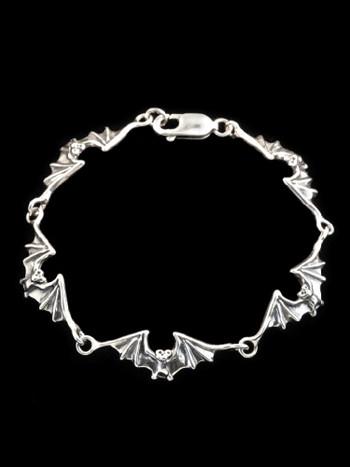 Bat Bracelet in Silver