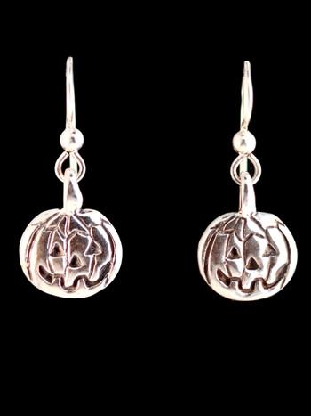 Flat Jack-O-Lantern Earrings