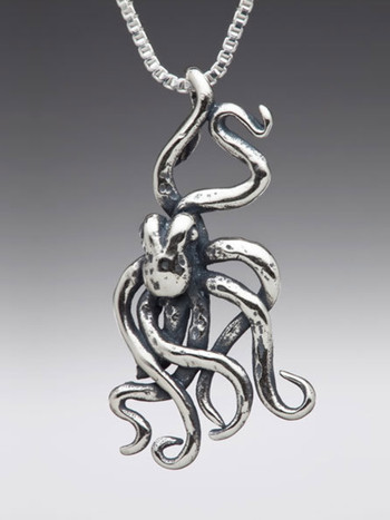 Octopus Charm - Silver