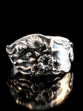 Tide Pool Ring in Sterling Silver