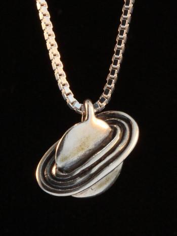 Celestial - Saturn Charm - silver