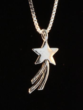 Celestial - Shooting Star Charm - Silver