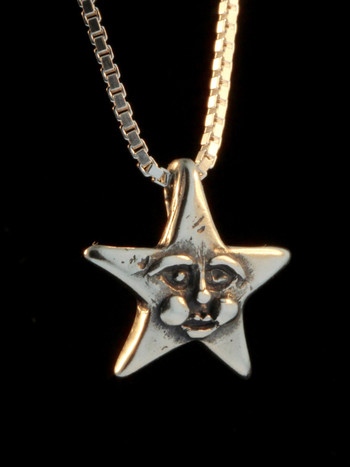 Celestial - Happy Star Charm - Silver