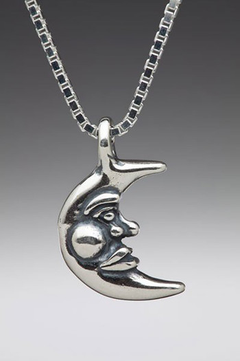 Silver moon charm