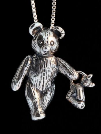 Large Bear Holding Baby Bear Pendant