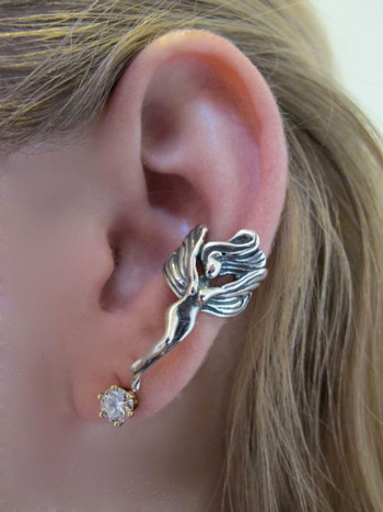 Fairy Ear Cuff in Silver