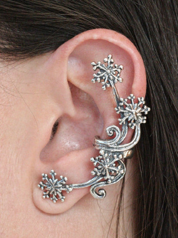 Starburst Ear Cuff in Silver