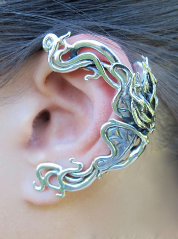 Wind Rider Fairy Ear Wrap Silver