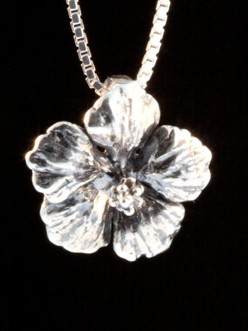 Flower - Hibiscus Charm - Silver