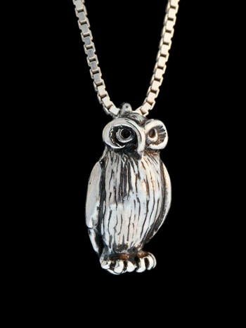 Owl Charm - Silver