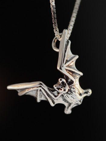Bat Flight Charm - Silver