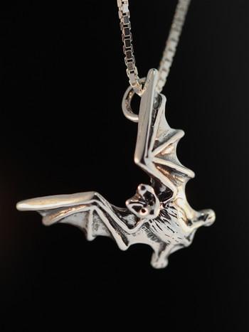 Bat Flight Charm - Silver