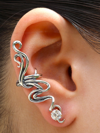 Spiro Ear Cuff in Silver