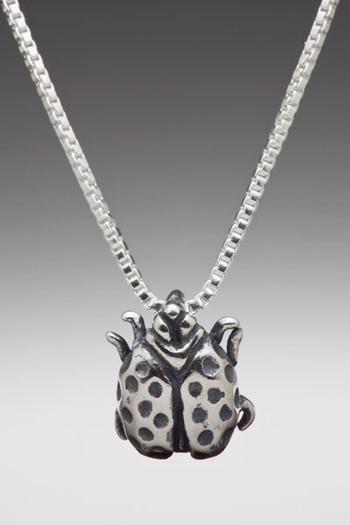 Lady Bug Charm - Silver