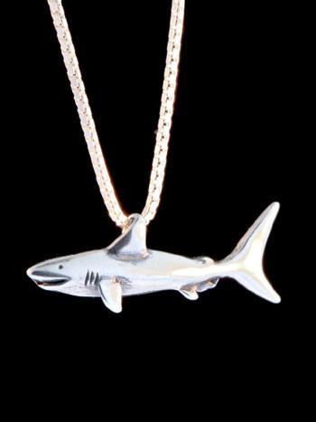 Shark Charm in Silver