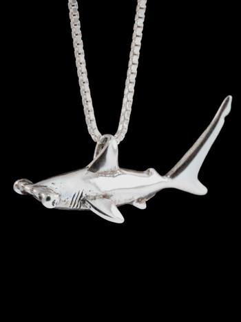 Sea Life - Hammerhead Shark Charm - Silver