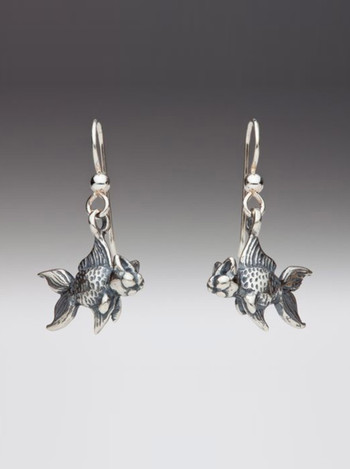 Small Catfish Earrings in Silver