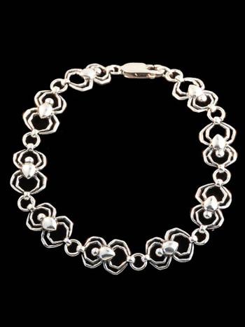 Arachnid Spider Bracelet in Silver