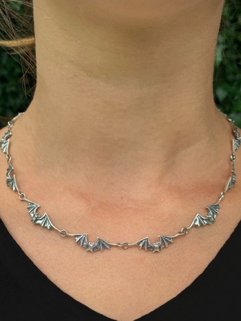 Bat Link Chain, 13 Links in Silver