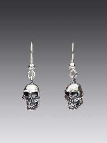 Skull Earrings in Silver