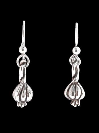 Small Garlic Clove Earrings