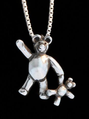 Teddy Bears - Bear with Baby Bear Charm