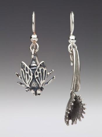 Fly and Venus Flytrap Earrings