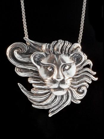 Wind Lion Pendant - Silver