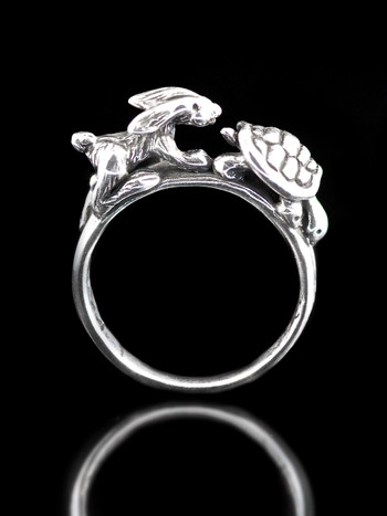Hare and Tortoise Ring