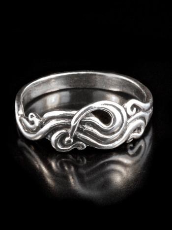 Nouveau Swirl Ring - Silver