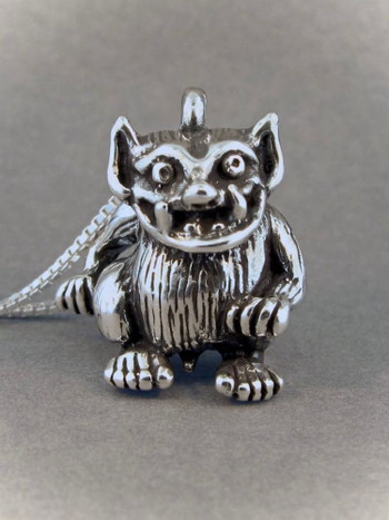 Troll Pendant in Silver