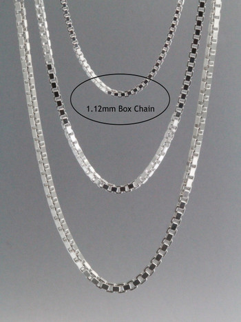 Box Chain 1.12mm Sterling Silver