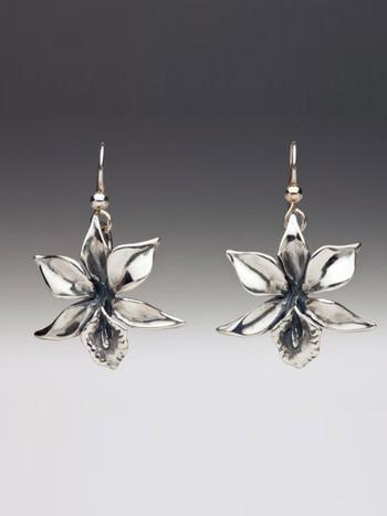 Orchid Earrings - Silver