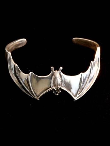 Bat Cuff Bracelet - Silver