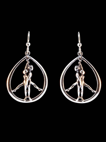 Stand For Peace Earrings - Silver